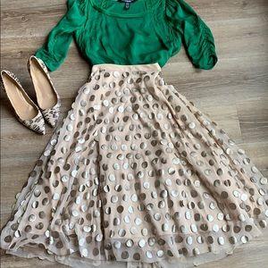 Eva Franko shimmer dot skirt